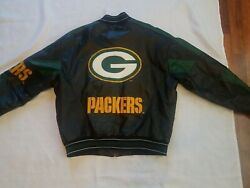 G-iii And Carl Banks Green Bay Packers Black Green Gold Leather Jacket Mens Large