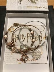 Alex And Ani Harry Potter Valentines Day Set Of 3 Bracelets Nwot, Card And Box