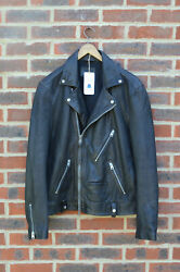 Awesome Sauce Allsaints Mens Muir Leather Biker Jacket Xl Extra Large Moto