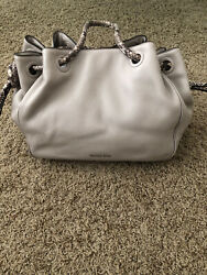 Michael Kors Hobo Bag Authentic Taupe Snakeskin Leather $99.00