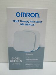 New Omron Tens Heat Pain Pro Gel Refills 6 Gel Refills Pm311 And Pm800 Exp 12/2022