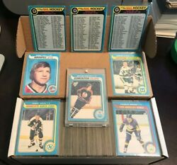 1979-80 O-pee-chee Complete Set 1-396 All Checklists Unmarked
