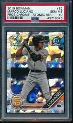 Psa 10 Marco Luciano 2019 Bowman Chrome Prospects Atomic Refractor Rc Gem Mint