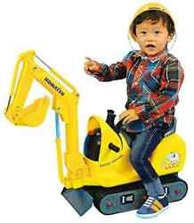 New Komatsu Micro Shovel For Kids Riding Toy With Helmet Pc01 Toyko From Japan