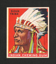 1933 Goudey Indian Gum 120 Warrior Of The Sioux Tribe. From Original Collection