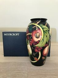 Moorcroft Queens Choice 26cm Tall Vase By Emma Bossons With Box