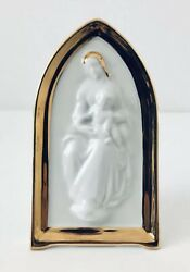 Limoges Castel White Gold Hand Painted Porcelain Figure Mary Baby Jesus France