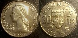 The Reunion - 20 Francs 1955 Wing Copper-nickel Or Nickel Plated Jl 88