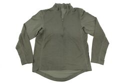 Orc Industries Pcu Level 1 Polyester Half Zip Shirt In Green Size L Very Rare