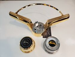 1965-1966 Impala 24kt Gold Horn Ring And Button