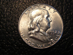 The Discovery Coin 1952/1 Silver Franklin Half Dollar Nice Luster Close-up Pics