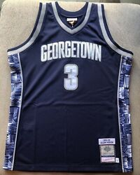Authentic Mitchell And Ness Allen Iverson Georgetown Hoyas Jersey Size 44 Large