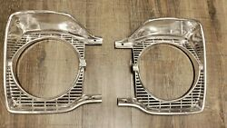 1965 Plymouth B Body R.h.and L.h. Headlight Bezels Satellite Belvedere