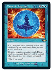 Force Of Negation Foil Etched With Video Opening Mh2 Mtg