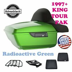 Radioactive Green King Tour Pack Luggage Black Hinges And Latch For 97-2020 Harley