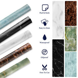 Marble Contact Paper Wallpaper Self Adhesive Removable Waterproof Pvc Kitchen Us