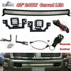 For Dodge Ram 2500 3500 Front Bumper 42and039and039 Light Bar / Led Pod Mount Bracket Wire