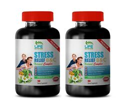 B Stress Complex Vitamins - Stress Relief B And C - Immune Support For Health 2 Bo