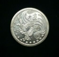 1974 World Trade And Commerce 1 Oz .999 Fine Silver Eagle Round Free Shipping