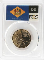 2019 P Position B Delaware Innovation Dollar Pcgs Ms 65 State Flag Label