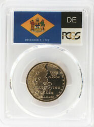 2019 D Position A Delaware Innovation Dollar Pcgs Ms 65 State Flag Label