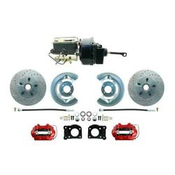 1964-66 Ford Mustang Drilled/slotted Front Power Disc Brake Conv.