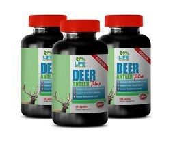 Bone Health - Deer Antler Plus 555mg - Post-workout Recovery Supplements 6b