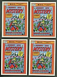 Investor Lot Of 4 1990 Marvel Universe Impel Mvc Journey Into Mystery 83 128
