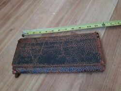 Vintage Early 1800/1900and039s Alphabetical Expandable Accordion File Folder Receipt