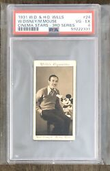Walt Disney And Mickey Mouse Psa 4 1931 W.d. And H.o. Wills Rookie Card