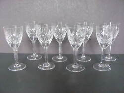 St Louis Crystal France Chantilly Sherry Glasses - Set Of 8
