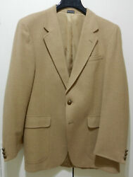 Saxony Hall Menand039s Camelhair 2-button Sport Coat 42l