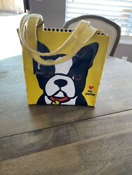 Marc Tetro Boston Terrier Lunch Tote Nwt $25.00