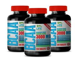 Branched Chain Amino Acids - Premium Bcaa 3000mg - Repair Muscle Tissue 3b