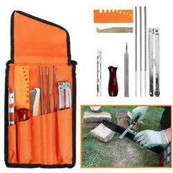 10x Chainsaw Sharpening Kit File Filing Chain Sharpen Saw Files Hand Tools Set