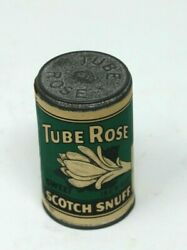 Vtg Tube Rose Scotch Snuff Tin Brown And Williamson Co. Louisville Ky