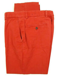 Brooks Brothers Milano Mens Red Flat Front Chinos 32x28.5