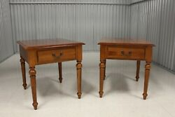 Pair Ethan Allen Country Crossing Collection Maple End Tables 17-8423