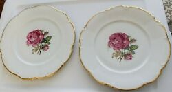 Hutschenreuther Selb Pink Rose The Dundee Pasco Dinner Plate Vintage 2