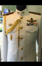White Uniform Soldier Shirt Suit Pants Pins Ranks Wing Thai Army Military
