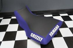 Yamaha Grizzly 660 Blue Side Grizzly And Back Yamaha Logo Seat Cover Yz80kya80