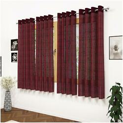 Story@home Polyester Window Semi Transparent Sheer Curtain-qmr