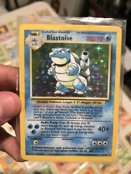 Pokemon Card Lot With Holo Blastoise Vintage 90s Cards