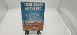 Agatha Christie Death Comes As The End 1944 1st Us W/ Dust Jacket Red Badge