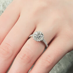 0.80 Ct Real Round Diamond Engagement Ring For Women Solid 950 Platinum Size 6 8