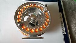 Aluminium Salmon Fly Reel 9/10 Aftm Fitted With Greyand039s Floating Fly Line
