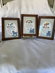 Vintage Set Of 3 Home Interior Child's Wall Pictures