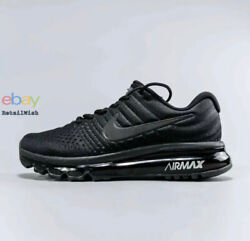 Nike Air Max 2017 Size 7-11 Menand039s Running Shoes Triple Black 849559-004