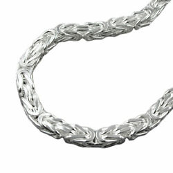 Chain 0 5/16in Kingand039s Chain Four Sided Shiny Silver 925 21/32in