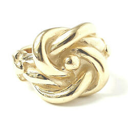 9ct Gold Knot Ring Solid Men's Yellow 31.3g Brand New 20mm Wide Size Z